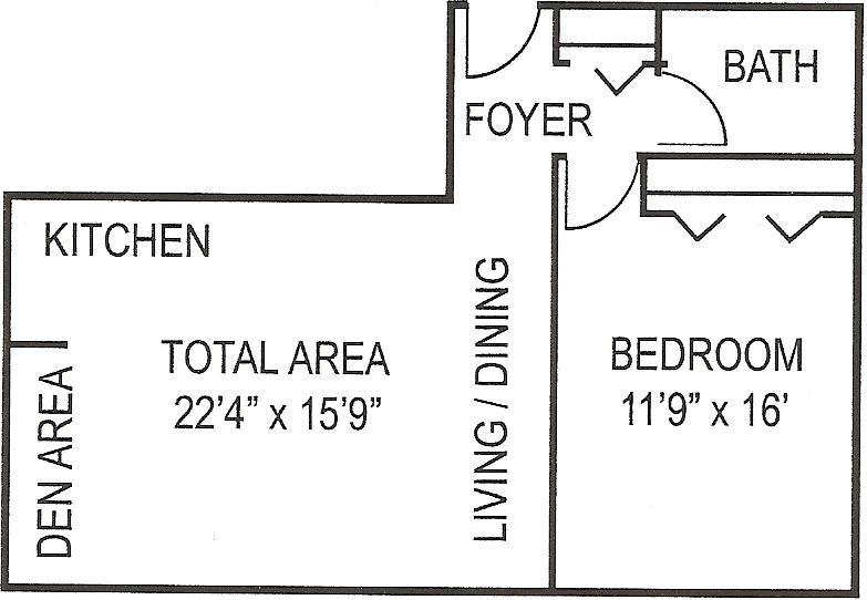 Beaver Plaza 1 BR Lg Floorplan