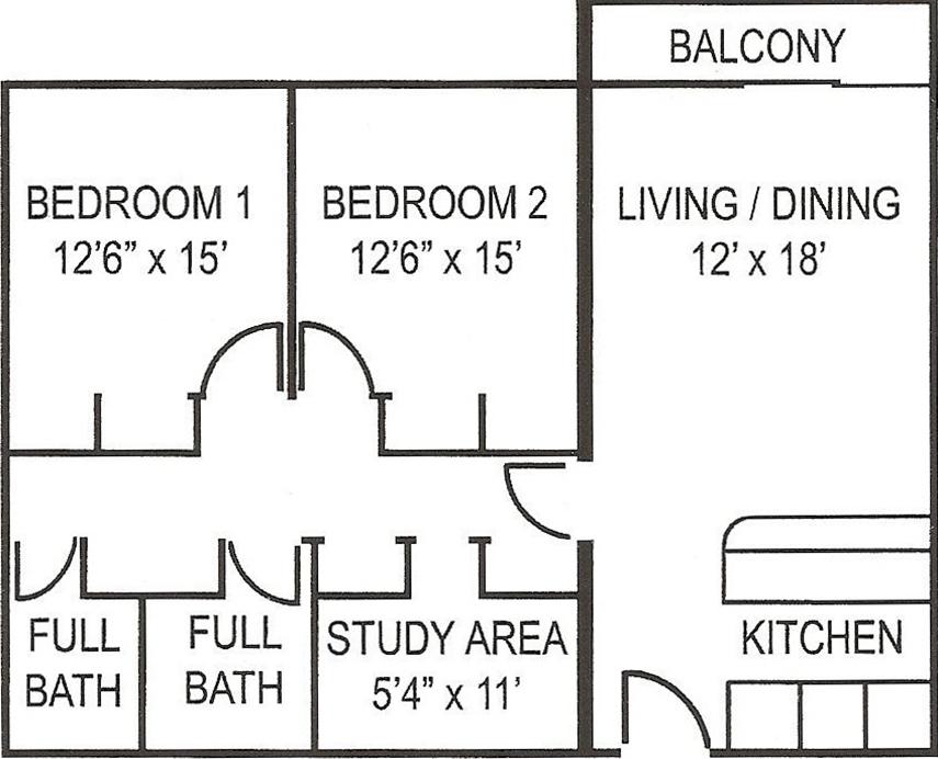 Collegian_2BR_LG_Balc Floorplan