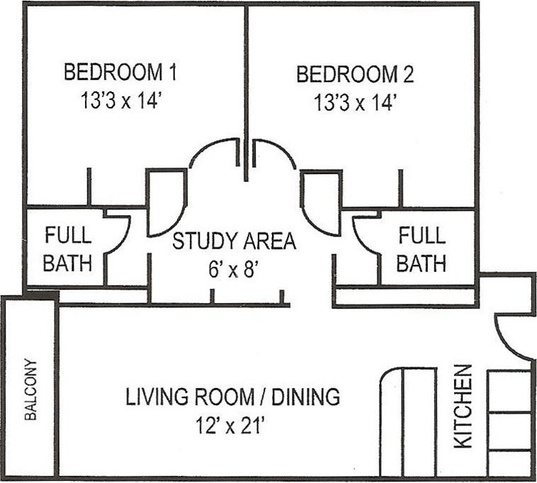 Collegian_2BR_SM Floorplan