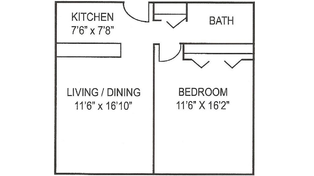 Hetzel Plaza 1 BR Floor Plan