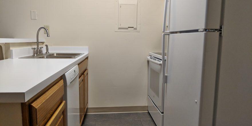 Kitchen with wash basin