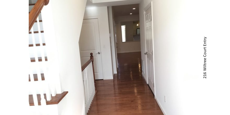 Entry way with hardwood floors